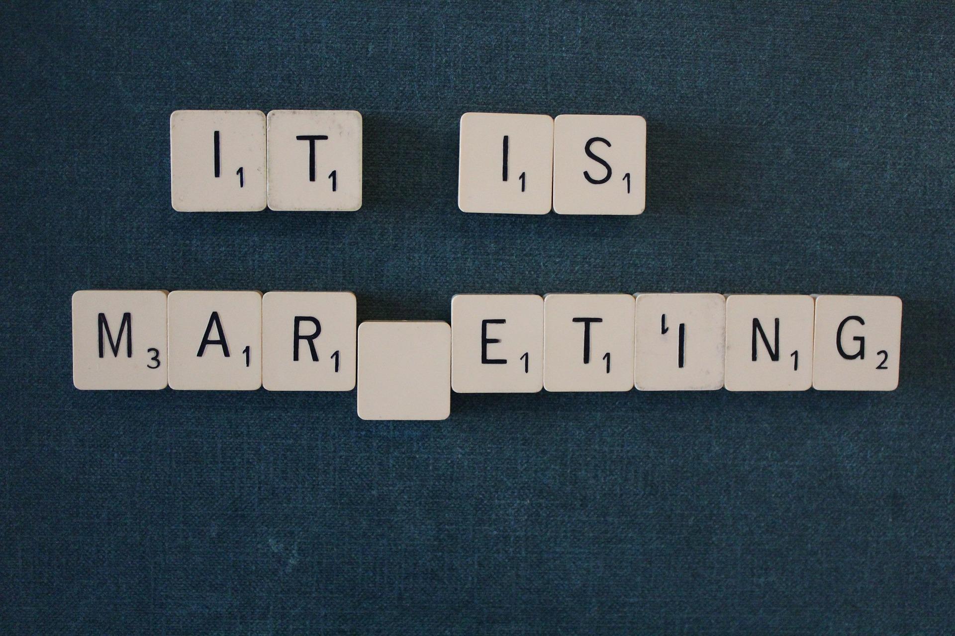 Marketing písmena
